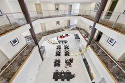 adina serviced apartments canberra dickson atrium hotel lobby