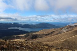 View from our descent along the Tongariro Crossing, organised by River Birches