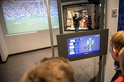 Have a go a commentating in the commentary booth at the World Rugby Museum