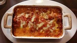 Lasagne au restaurant Le Capri