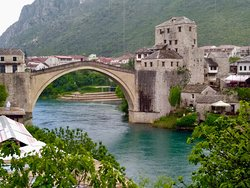 Old Bridge Area of the Old City of Mostar