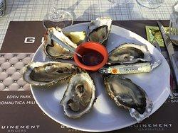 Huîtres menu 27.5€