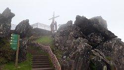 Escada de acesso para o Calvário