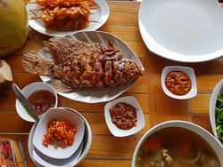 fish, prawn, and others