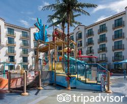 The Surfside Water Park at the Courtyard Anaheim Theme Park Entrance