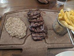 Steak with aubergine