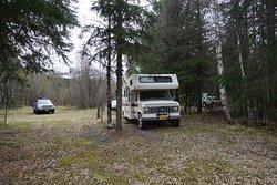 Camper in electric site 9