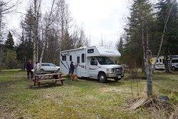 Camper in electric site 11