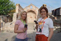 St. Sophia's Basilica - point 12 of the tour route with an audio guide to the old town of Nessebar