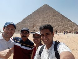 With Mr. Mustafa at the Pyramids