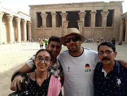 With Mr. Ahmed at Edfu Temple