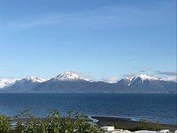 View of the Kenai Mountains and Kachemak Bay