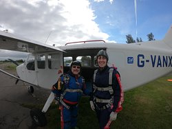 Tony and I before we got in the plane.