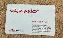 back of card used to purchase food/drink items