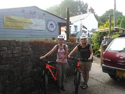 Cyclists from the Netherlands enjoying Cornwall