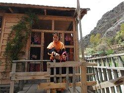 A typical Kalashi Woman in her dress. Kalash Valley.