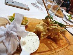 High Stakes Dinner - Tempura Prawns