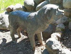 St. Bernard Dog Statue