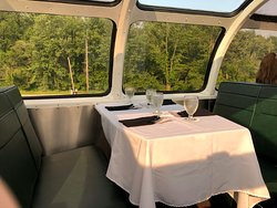 Upper deck seating for Chocolate Tasting Train