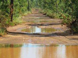 The road to Ramingining