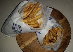 Lamb Shoulder Yiros under the chips :)