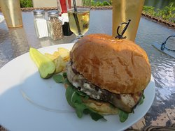 Grilled swordfish on brioche bun!