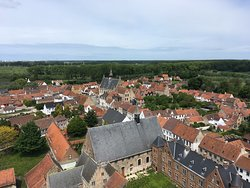 View of Damme from the top of the tower.