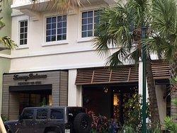 Entrance to Tommy Bahama Restaurant &  Store, Harbourside Place, Jupiter, Florida