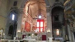 Beautiful church behind an unassuming facade