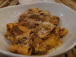 nonno's pasta (tagliatelle, bolognese, parmesan)