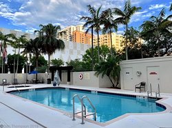 Newly updated pool deck is ready to welcome you to bathe by the sun!