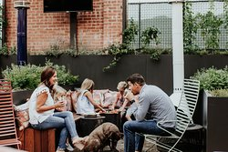 Join us on our patio for fresh air and summer vibes!