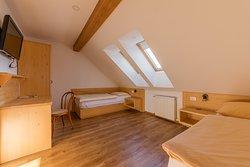 Attic quadruple room