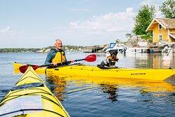 Guided kayak tour around Vaxholm