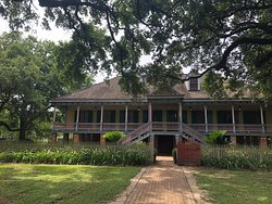 The front of the house of the Duparc Plantation.  In the tour description it's the Creole Plantation