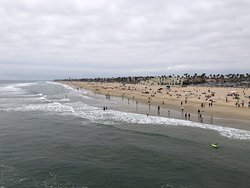 Panorama of the beach.