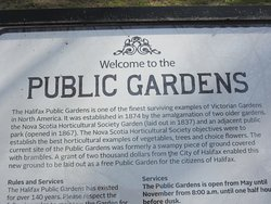 Public Gardens Welcome Sign