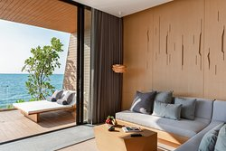Beachfront Pool Villa  - Living Room