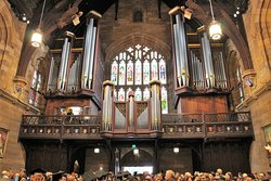 The organ at the Great Hall of Sydney University is an impressive sight.