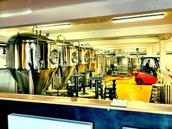 The Docks Beers brewery - in full view of the taproom