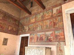 frescoes outside the church