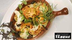 Gratiniertes Duo vom gefüllten Palatschinken - das kulinarische Ergebnis! Einfach himmlisch