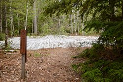 Snow mound by Coves backcountry campground