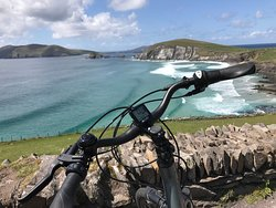 Beautiful day on Slea Head drive. Enjoying the view on bikes rented from Dingle Electric Bike Experience.