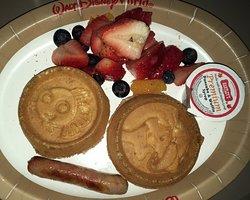 Kids waffle breakfast