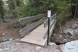 Foot bridge. Lower Cascade Trail and Falls, Ouray, CO. May 2019