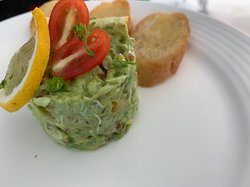 Avocado tartar with crab meat