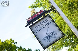 The Old Hatchet sign