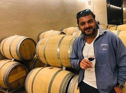 Giovanni Rizzo auf dem Weingut Clos d'Agon