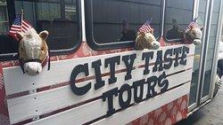Fun City Tours on wacky bus